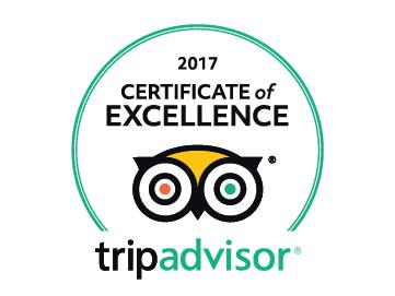 Tripadvisor Cerificate of Excellence