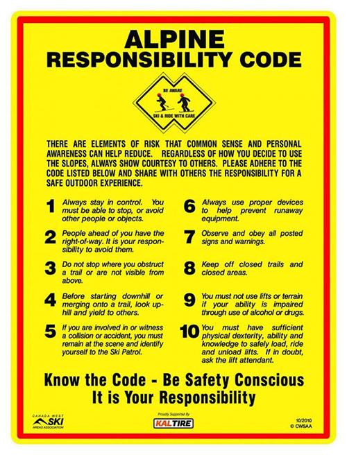 Alpine Responsibility Code
