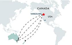 AU location map