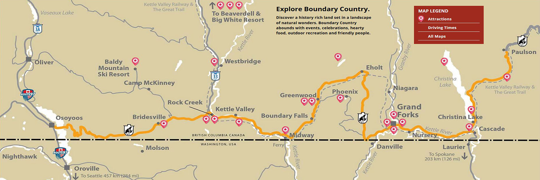 Boundary Country map