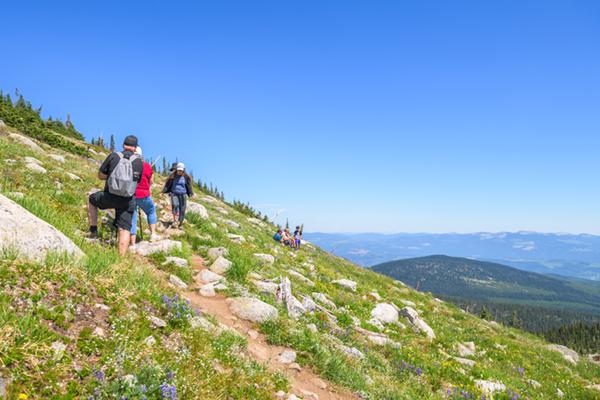 Summer hiking at Big White