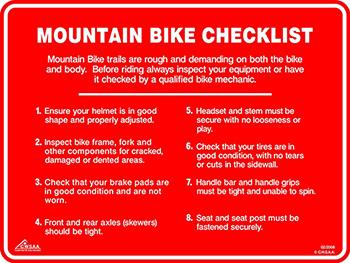 Mountain Bike Checklist