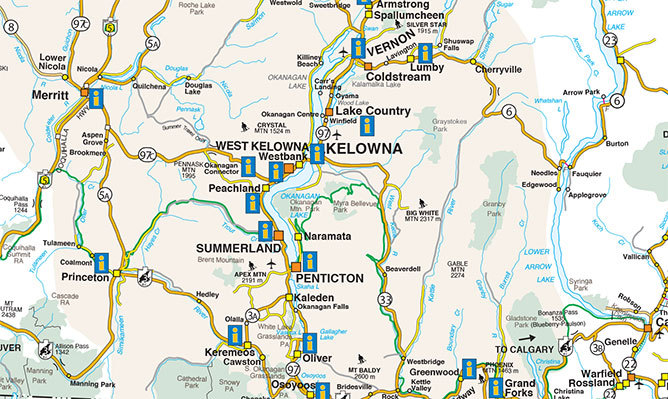 life is good in the thompson okanagan this map will help you find your way to our beautiful backyard full of champagne powder so you can enjoy it as much