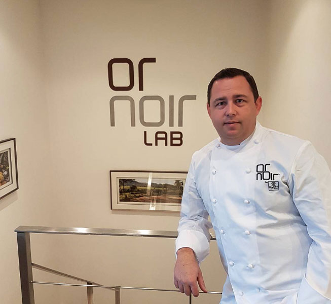 Big White's Executive Chef, Rob Walker, at Or Noir Laboratories.