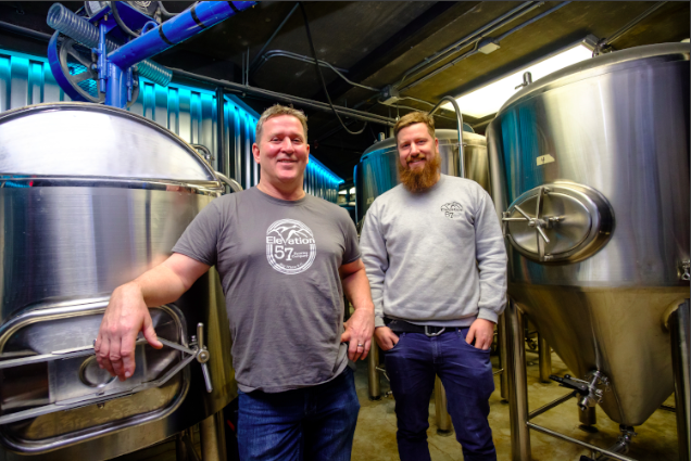 Owner Brad Powell and head brewer, Brendan Amond