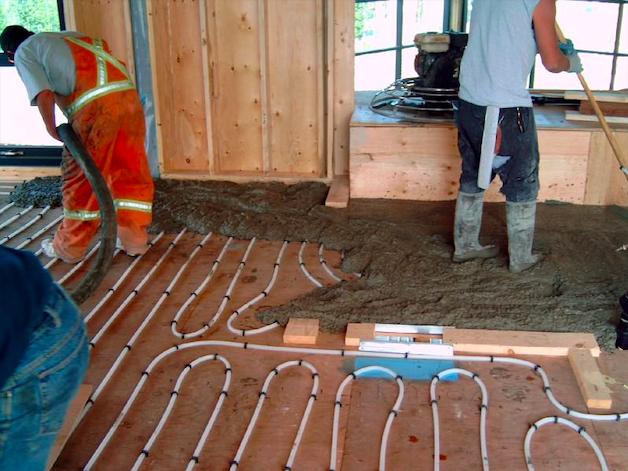 geothermal infloor heating