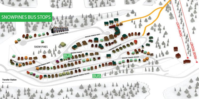 Snowpines bus stops