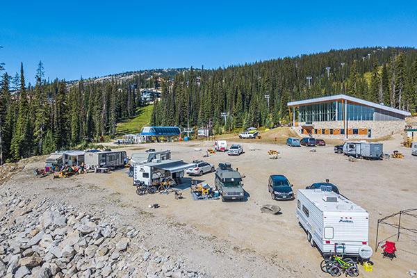 Camping at Big White