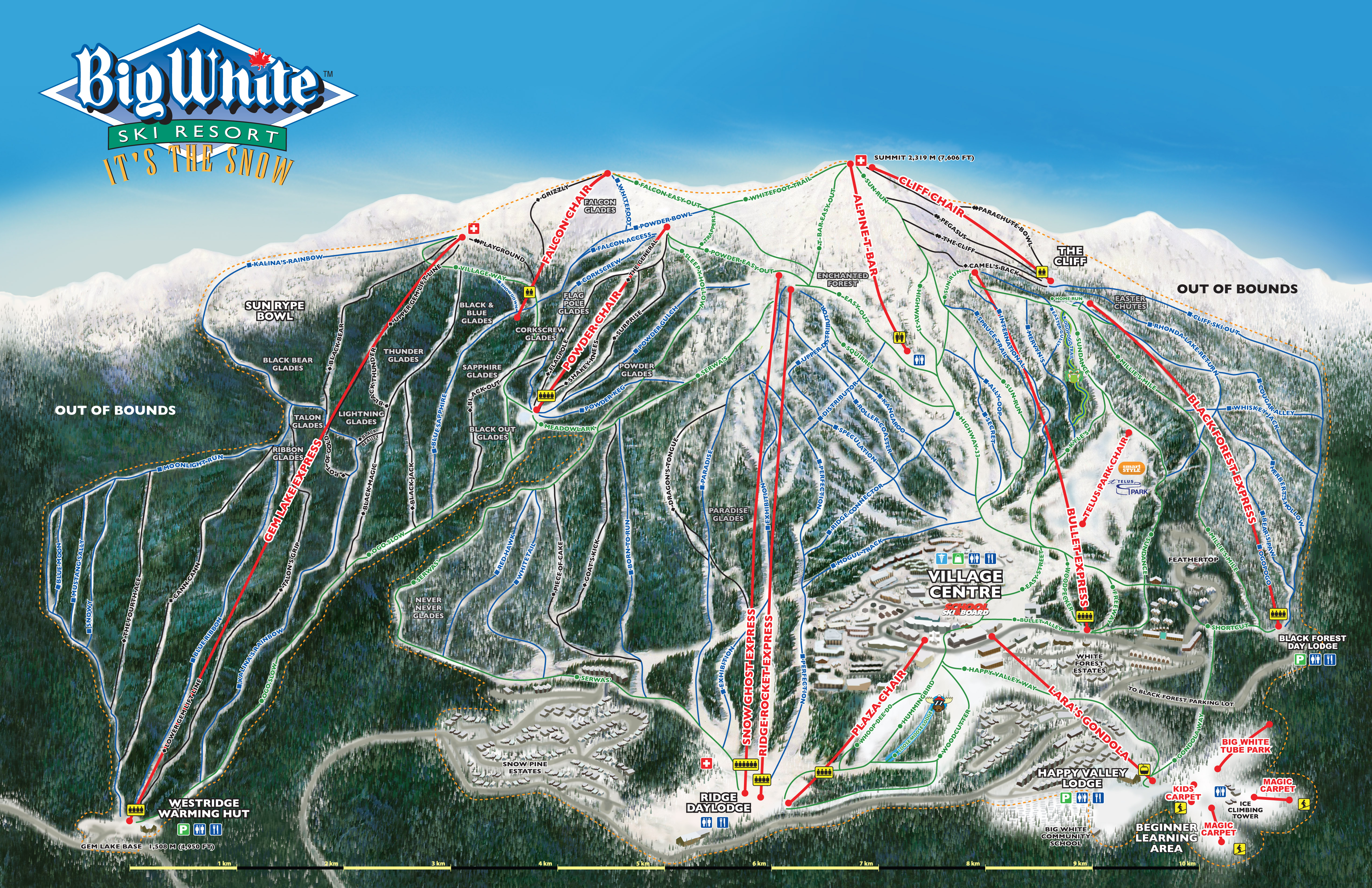 Big White Canada Village Map Maps & Brochures | Big White Ski Resort
