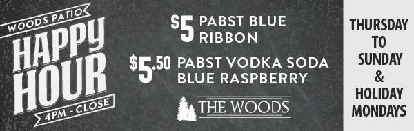 Woods happy hour