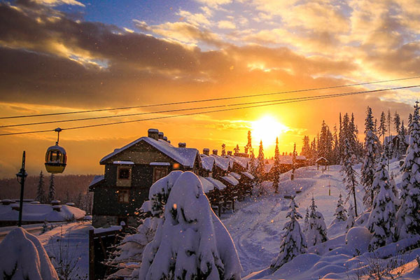 sunset Big White