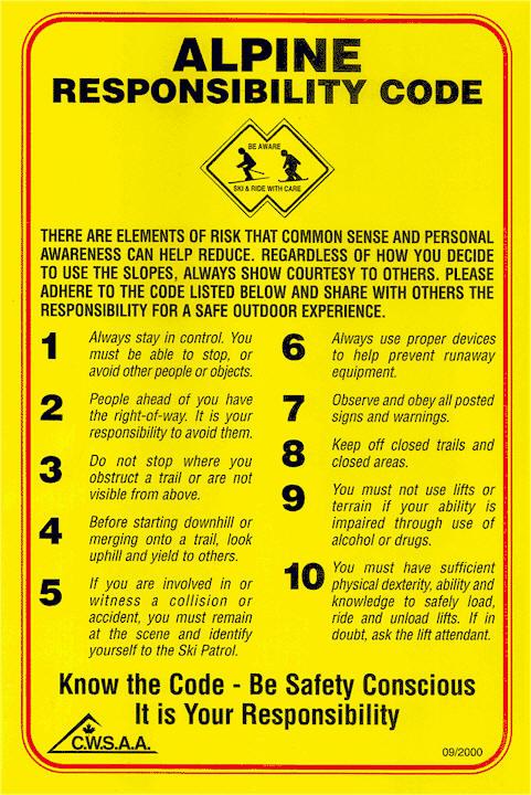 Alpine Responsibility Poster