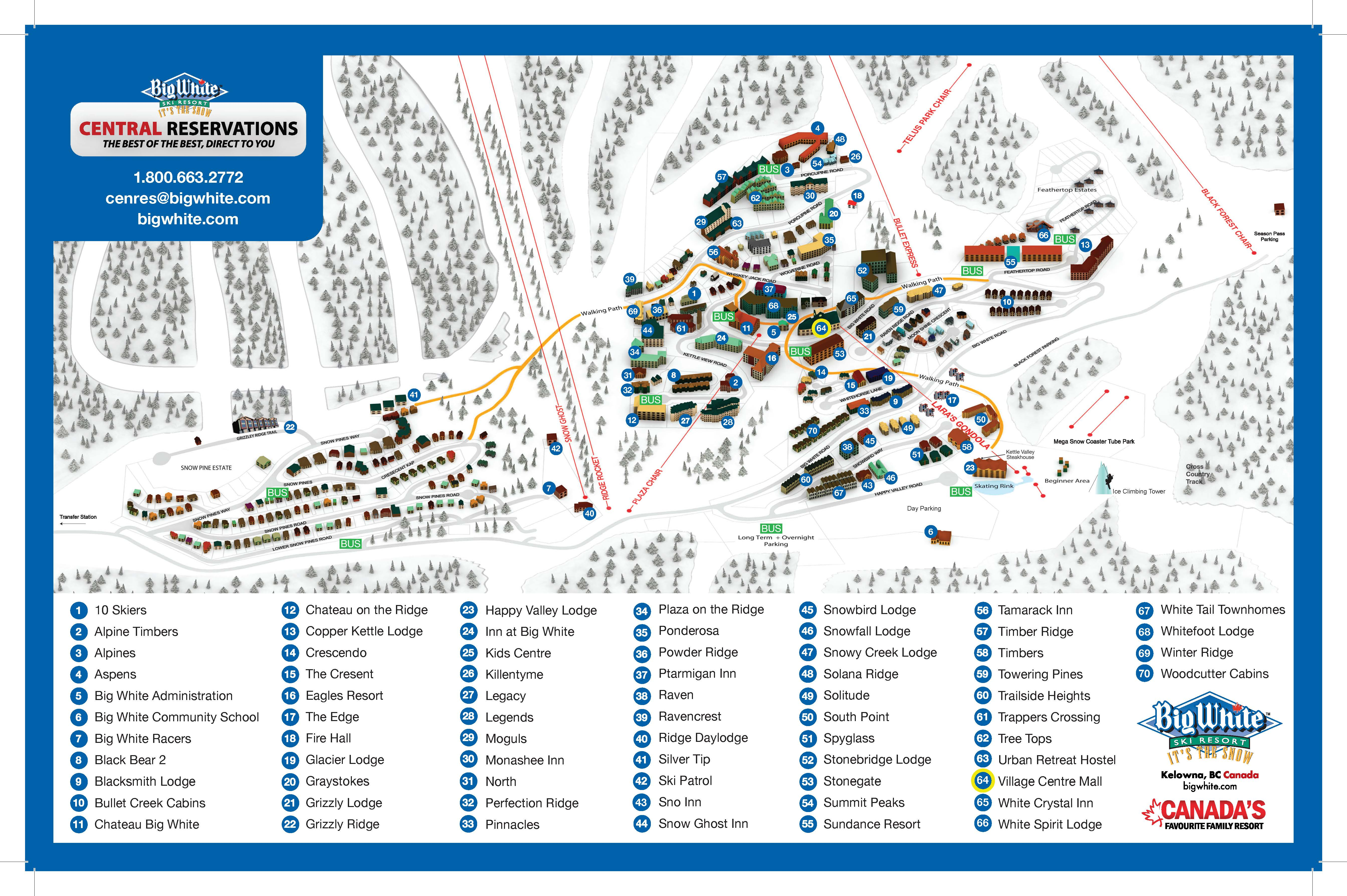 Maps Amp Brochures Big White