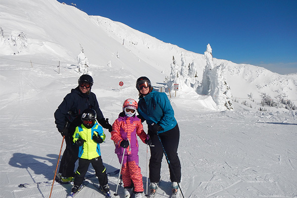 french family ski experience