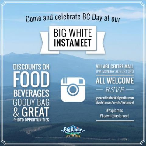 You're invited to Big White's first Instameet