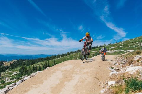 Men Mountain Biking