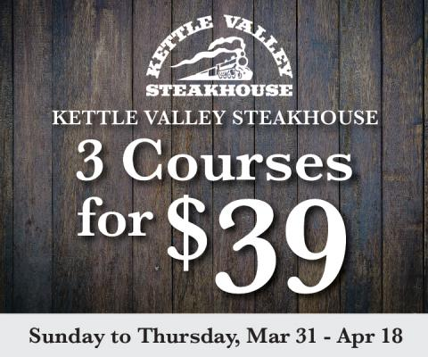 3 Courses for $39 at KVSH
